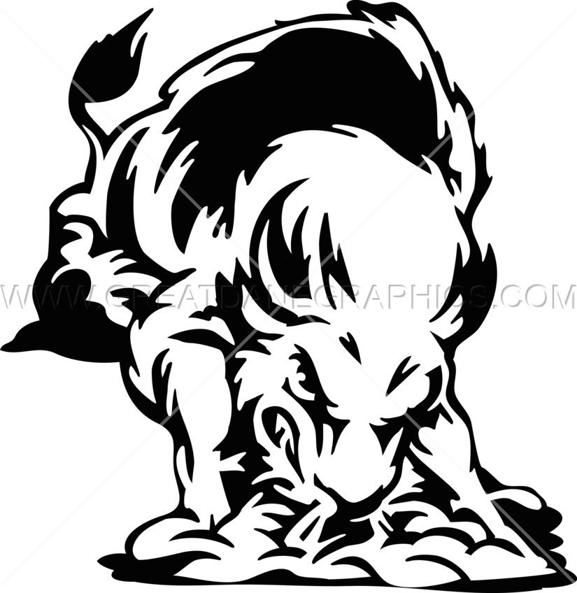 picture transparent Buffalo clipart illustration. Charging production ready artwork