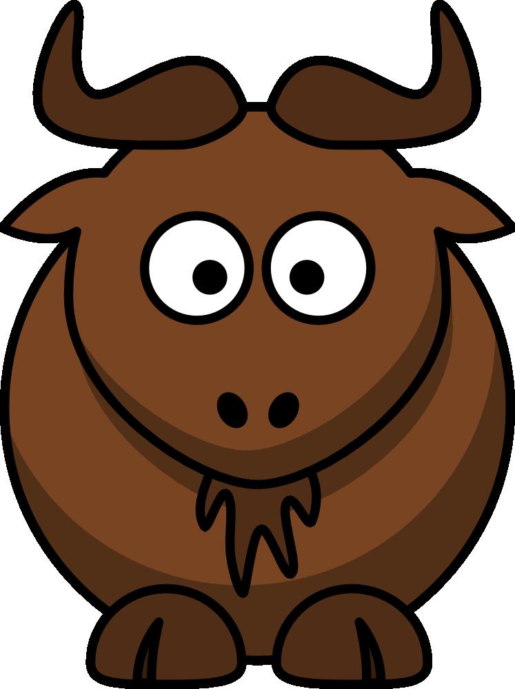 stock Buffalo clipart sketch. Cartoon wildebeest cute clip