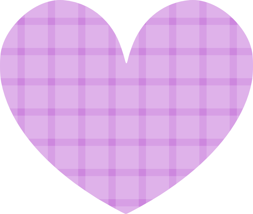 stock Gingham Hearts Clipart
