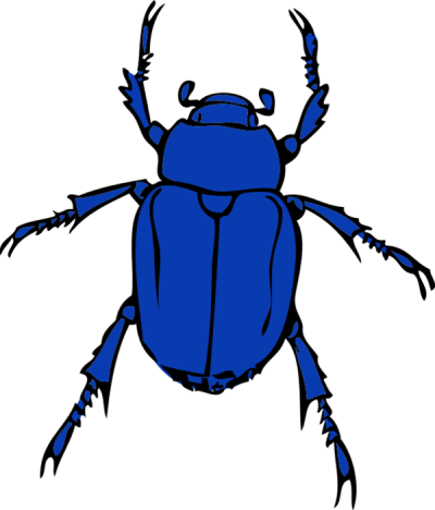 graphic library download Bug clipart blue bug. Clipartaz free collection clipartfest