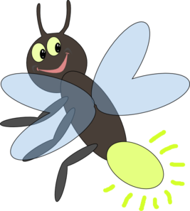 clip black and white library Lighting bug clip art. Firefly vector draw
