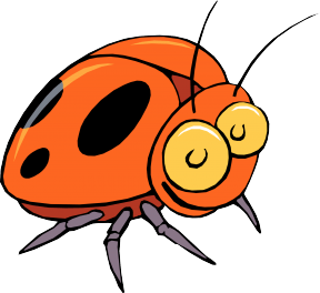 clipart royalty free library Bugs mealworm free on. Bug clipart orange bug