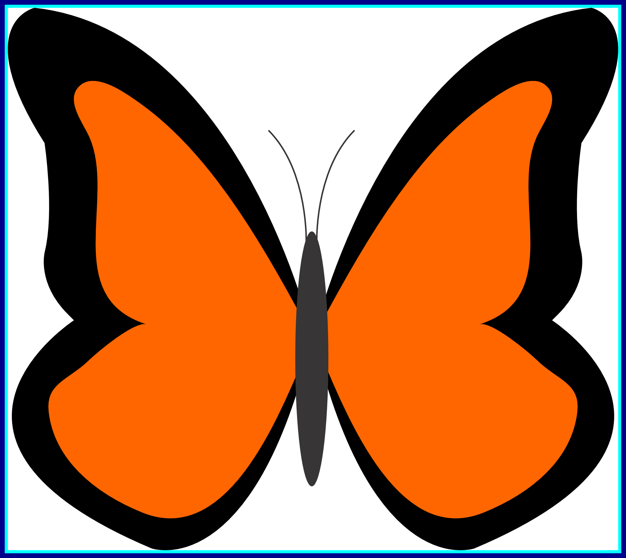 vector free library Appealing simple butterfly pict. Bug clipart orange bug