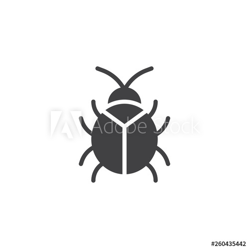 graphic freeuse Virus icon filled flat. Bug vector