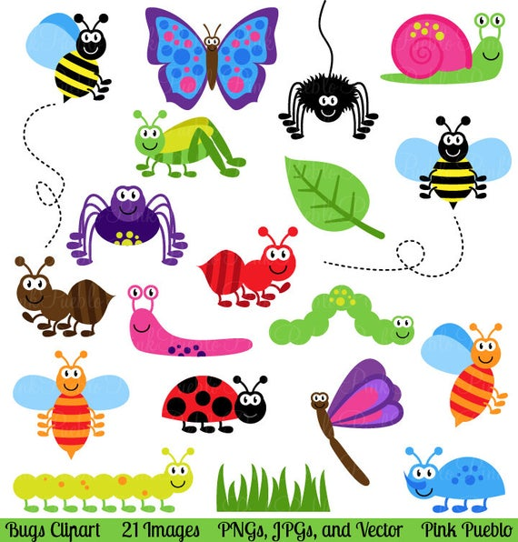 graphic library stock Clip art insects vectors. Bugs clipart.