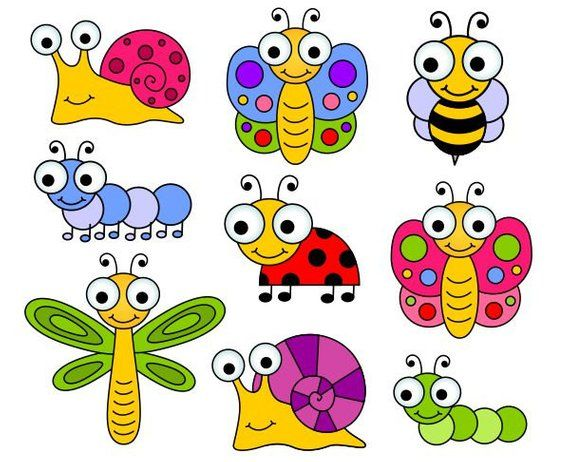 banner black and white library Bugs clipart. Mignons clip art insectes.