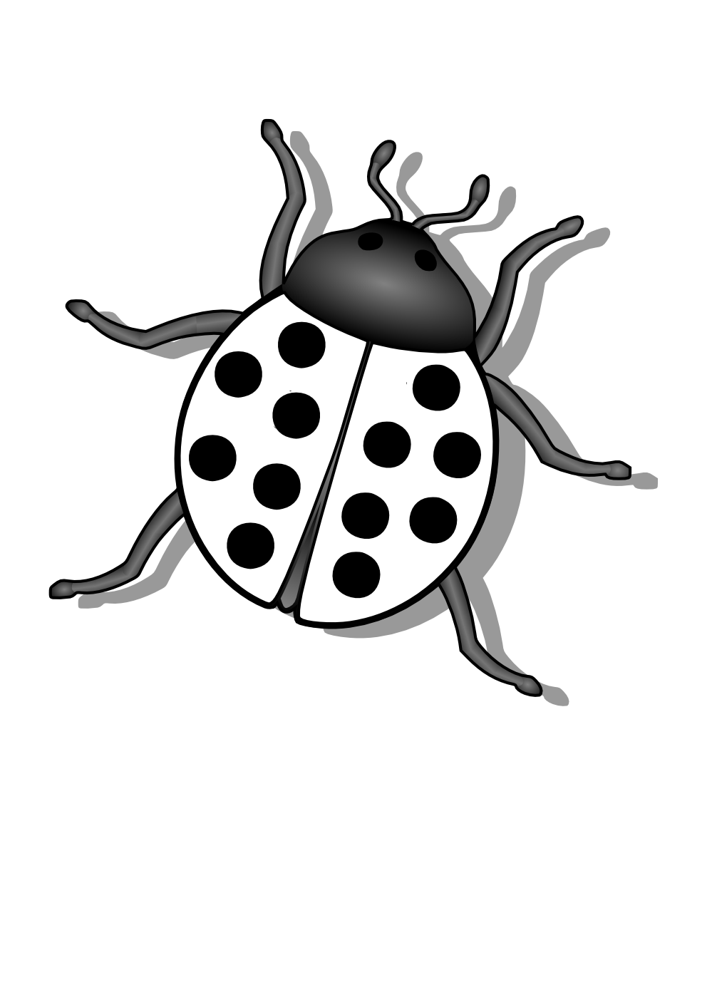 svg royalty free library Bugs PNG Black And White Transparent Bugs Black And White