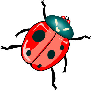 banner library Lady bug clip art. Bugs clipart insect.