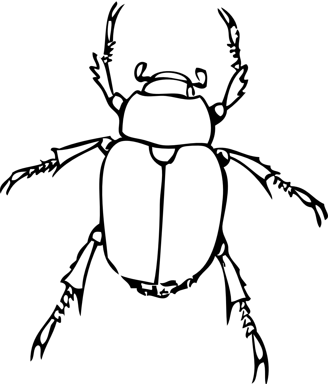clip art black and white bug line drawing