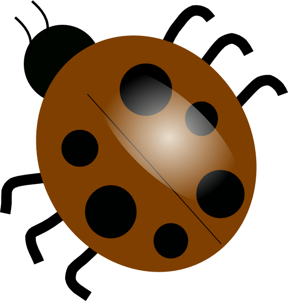 graphic library download Brown clip art at. Ladybugs clipart vector.