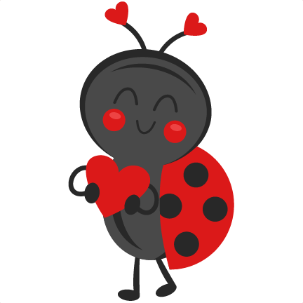 picture stock Bugs clipart valentines. Valentine ladybug svg scrapbook