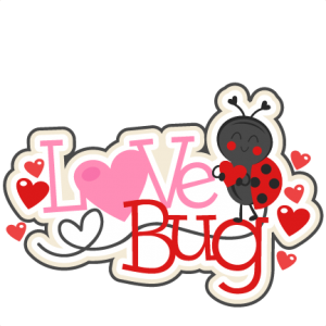 svg royalty free library Bugs clipart valentines. Love bug title svg