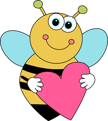 image royalty free library Bugs clipart valentines. Bee border clip art