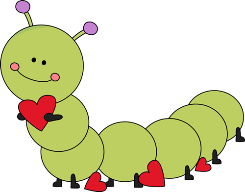 graphic library Valentine s day caterpillar. Bugs clipart valentines