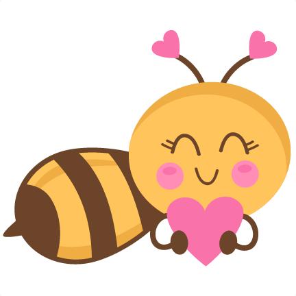 graphic library download Bugs clipart valentines. Girl bee holding heart
