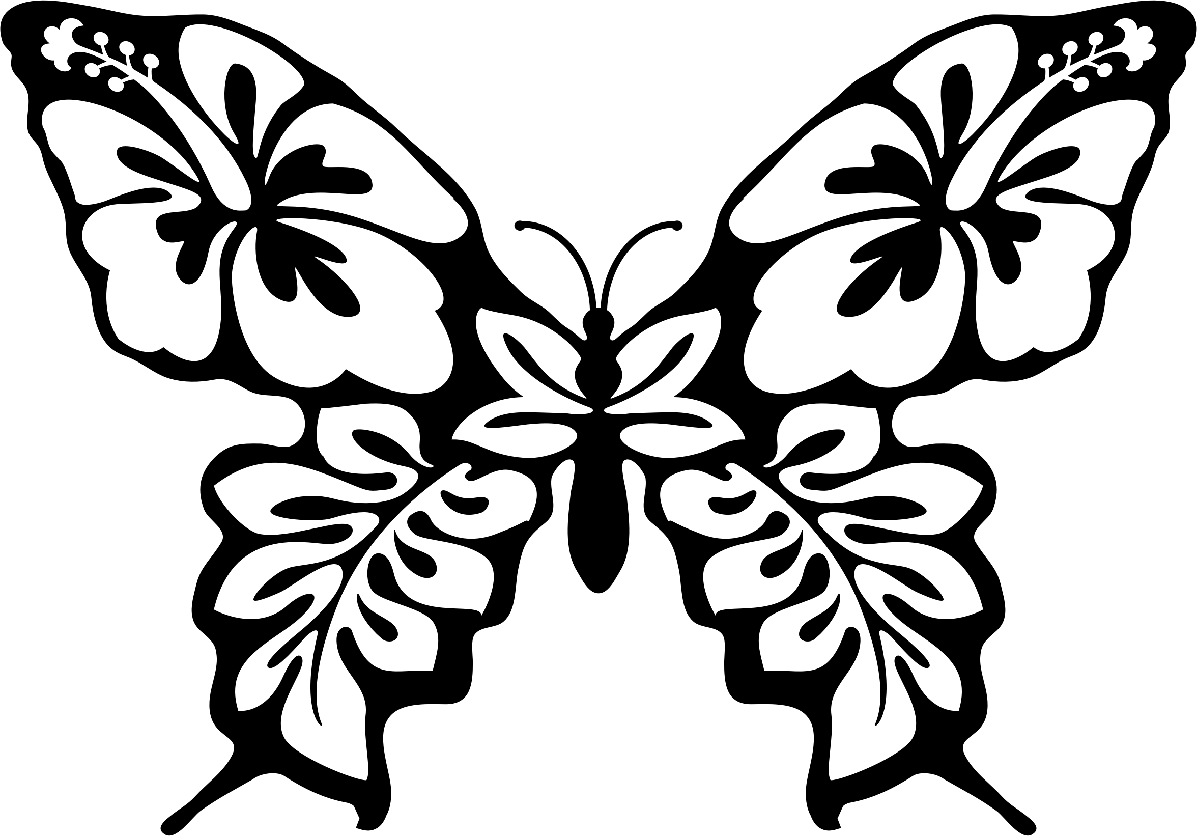 picture black and white download Drawing shirts flower. With butterfly at getdrawings