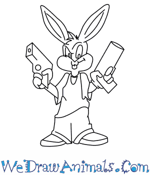 banner free library How to Draw Gangster Bugs Bunny From Looney Tunes