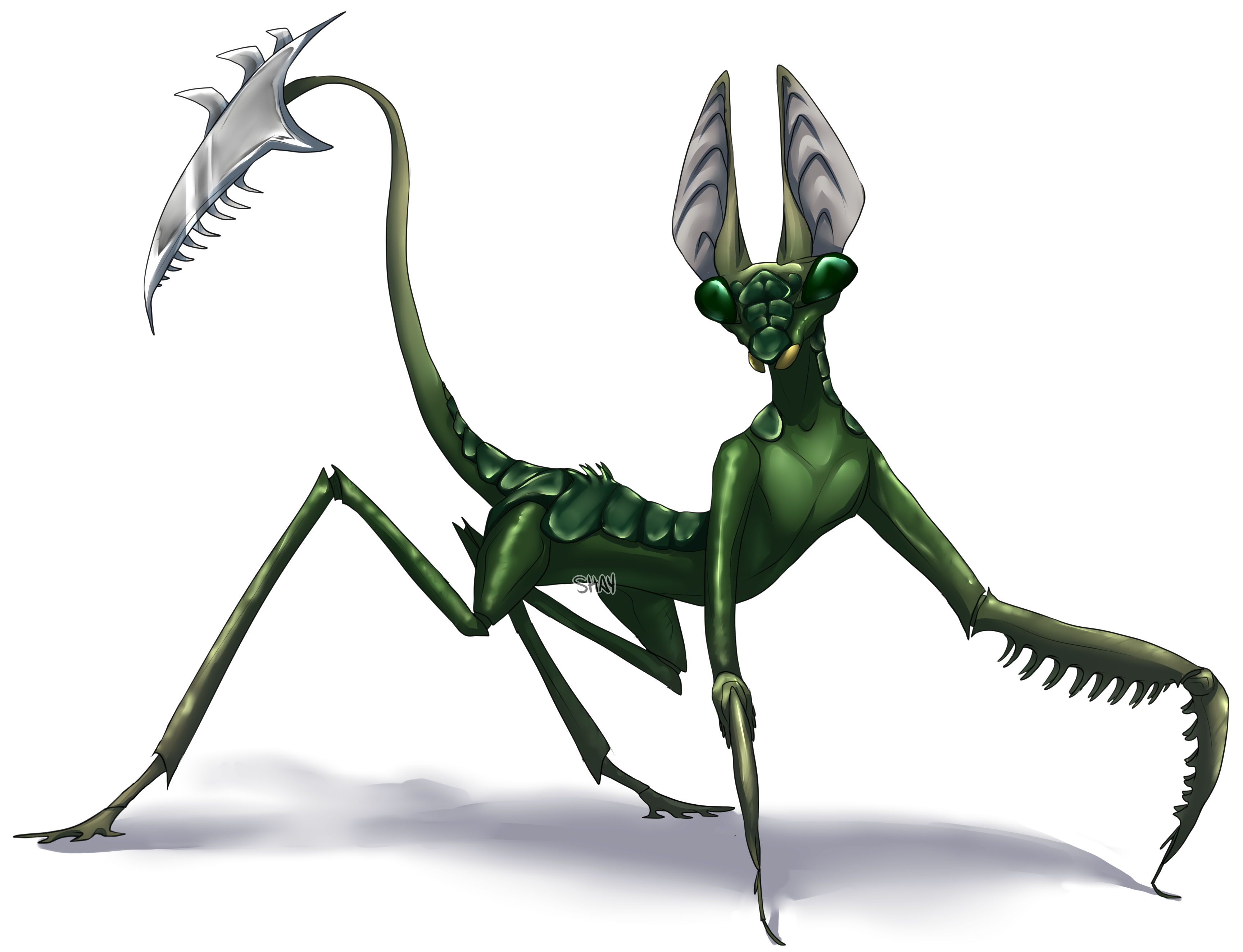 png free stock Mantis Creature by Slugg