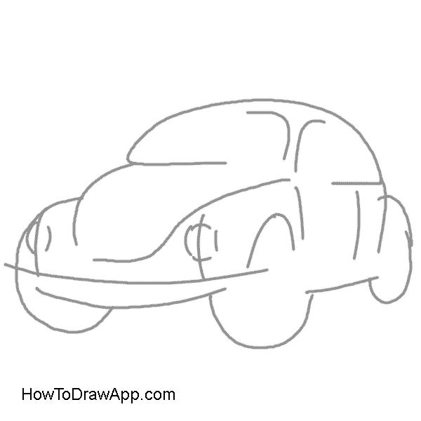 graphic transparent stock How to draw a Volkswagen Beetle aka Volkswagen Bug