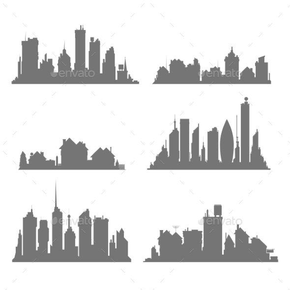 jpg transparent stock City silhouettes eps cs. Build vector.
