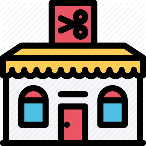 svg freeuse library Building clipart barber shop. Architecture barbershop city real