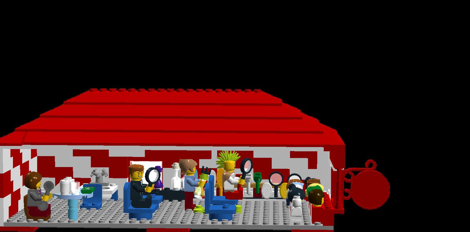 image transparent Building clipart barber shop. Lego ideas product the
