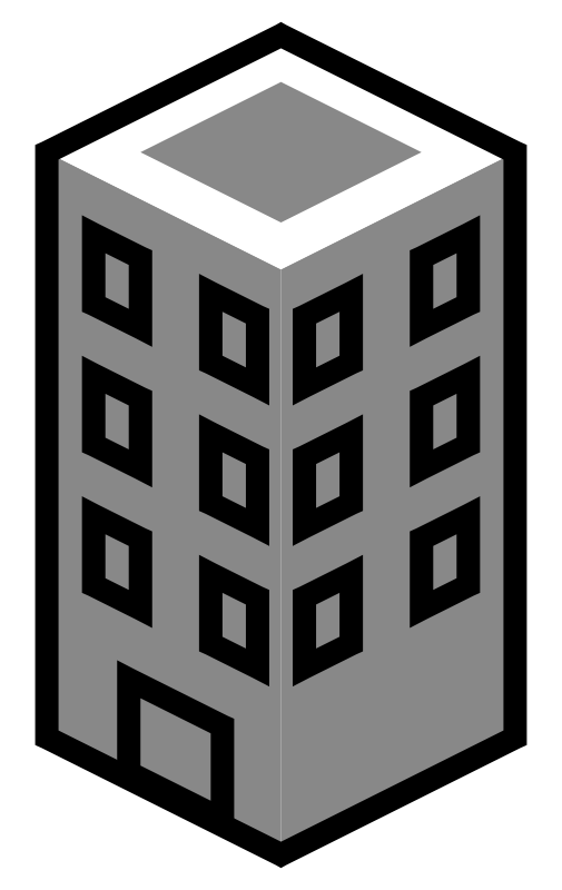 clipart black and white Building Clipart Black And White