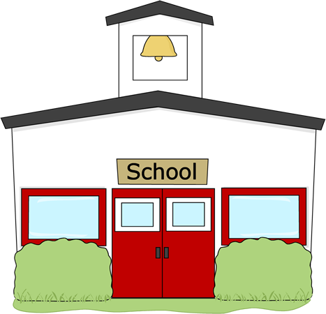 vector transparent stock Image of school high. Building clipart highschool.