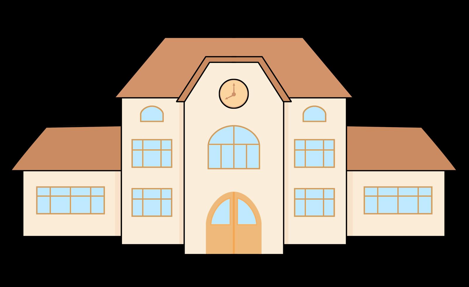 vector transparent stock School clip art education. Building clipart highschool