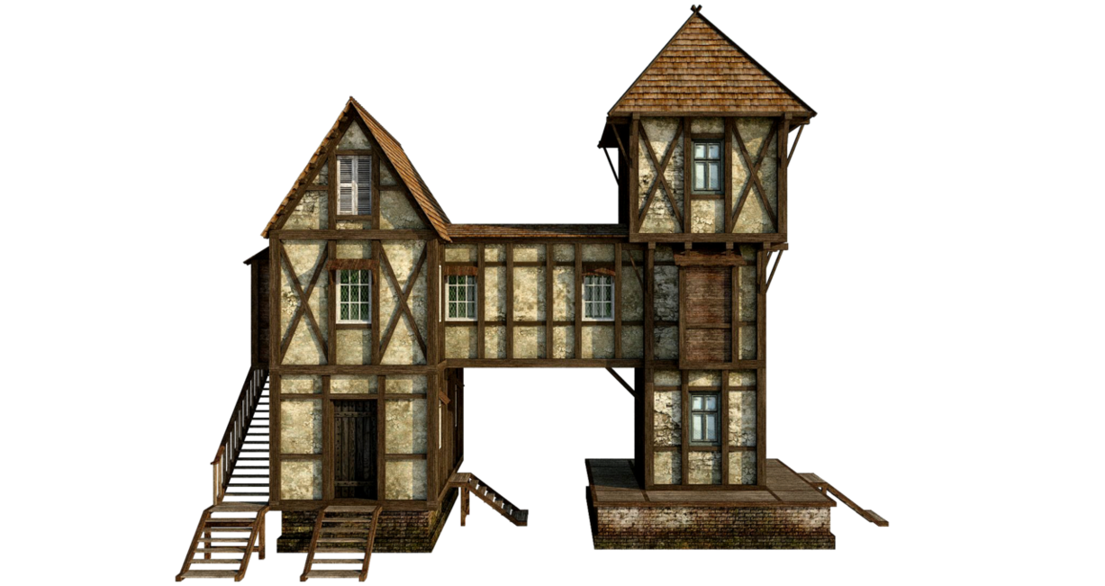 banner freeuse library House png by fumar. Building clipart medieval building