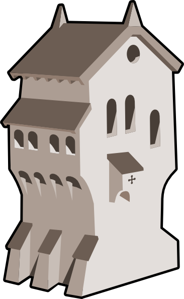png black and white library Clip art at clker. Building clipart medieval building