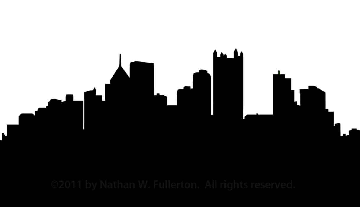 graphic royalty free stock Building clipart skyline. Pittsburgh silhouette dpi free.