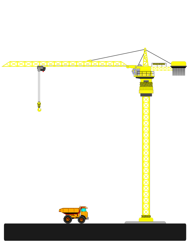 graphic royalty free download Construction crane clipart. Tower medium image png.