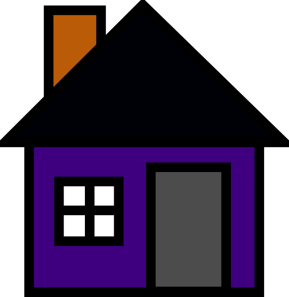 clipart transparent library Purple House Clip Art at Clker