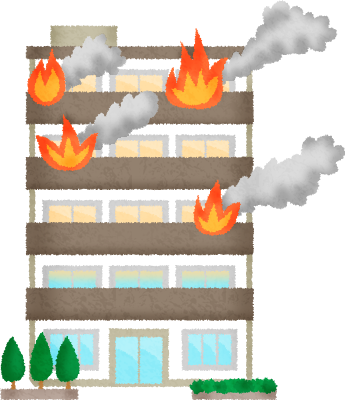 banner transparent library Apartment on fire free. Supermarket clipart man.