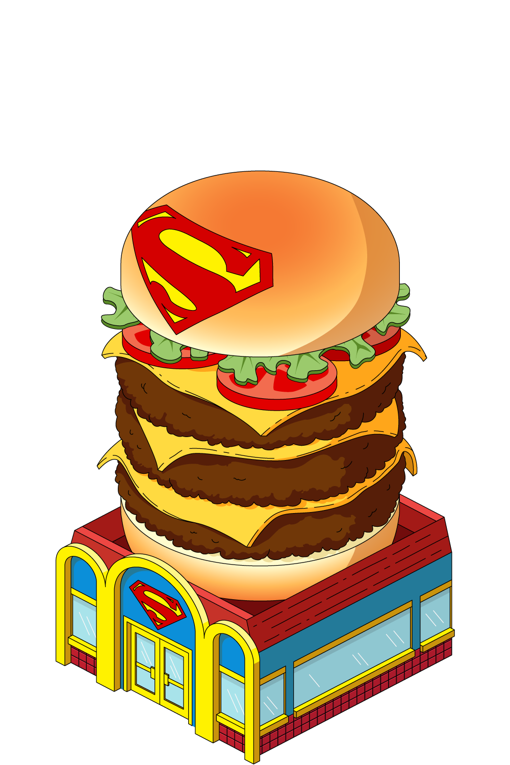 picture library download Buildings clipart burger. Super tower family guy