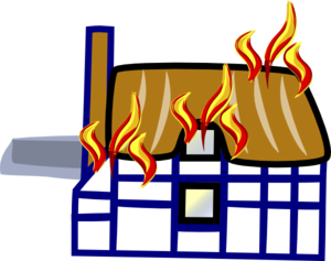 svg free stock In house clip art. Buildings clipart fire