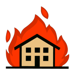 graphic freeuse Apartment complex free on. Buildings clipart fire