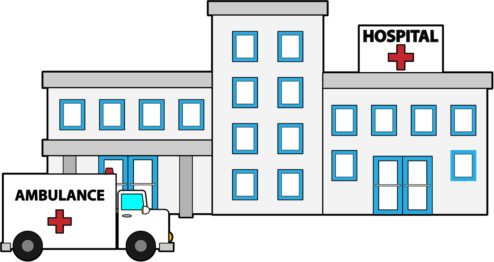 graphic download  collection of building. Buildings clipart hospital