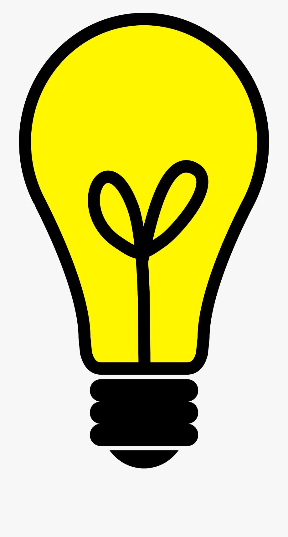 clip art Lightbulb yellow light bright. Bulb clipart.