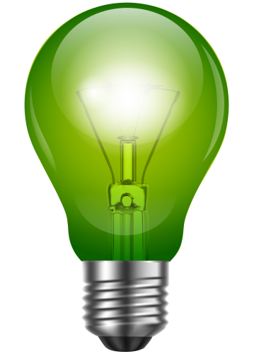 graphic library download Green light png clip. Bulb clipart electric bulb