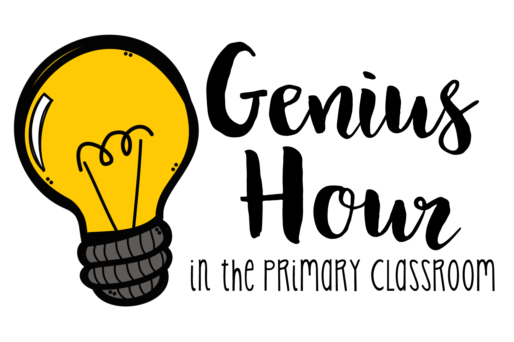 clip art black and white library  collection of high. Bulb clipart genius hour