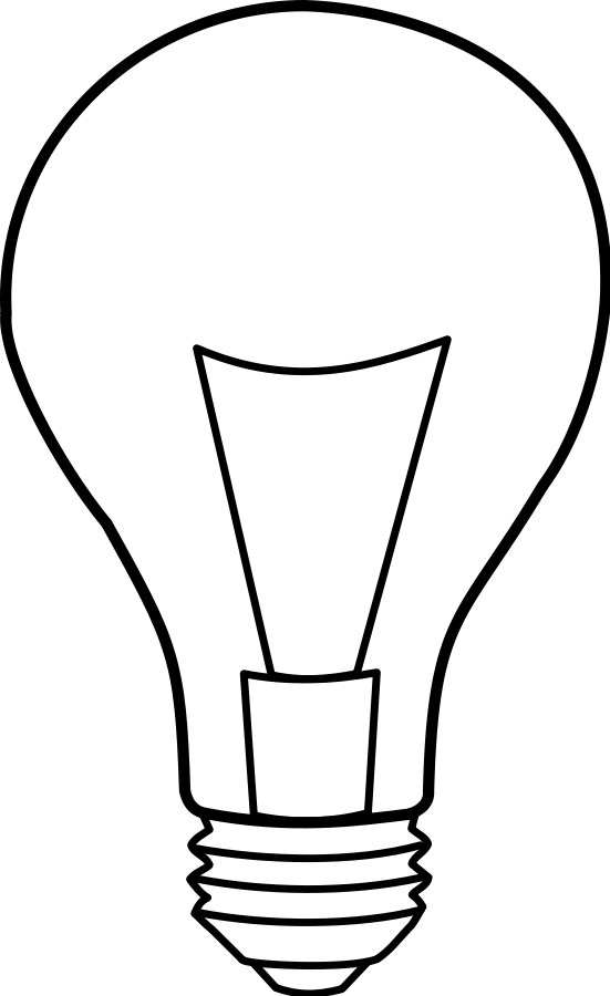 jpg transparent download Bulb clipart ight. Lamp clip art black