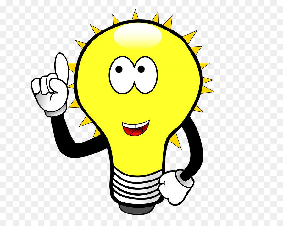 transparent library Light icon lamp face. Bulb clipart ligh