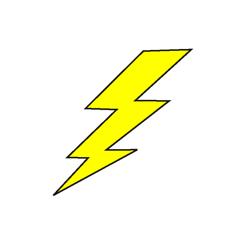 transparent stock Lightning animation clip high. Bolt clipart pop art