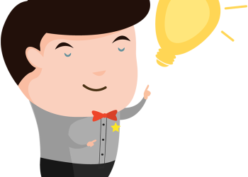 png stock Bulb clipart person. Cartoon man with an.