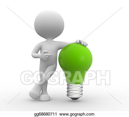 graphic black and white Drawing green light gg. Bulb clipart person.