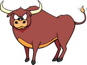 png free download Bull clipart. Angry crosseyed clip art