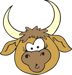 vector freeuse library Bull clipart. Shocked clip art at