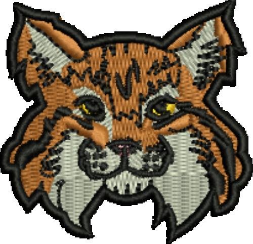clip art royalty free stock Mascot iron on patch. Bull clipart baby bobcat